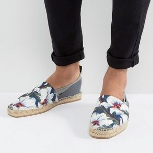 Hudson London Kraden Floral Espadrille Shoes